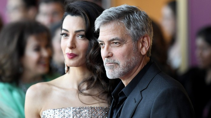 George and Amal Clooney at 'Catch-22'