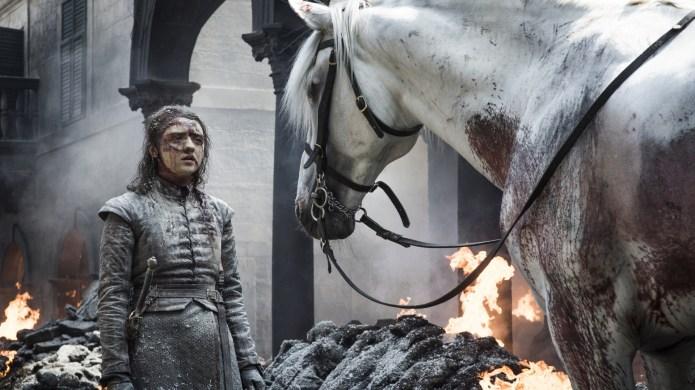 arya white horse game of thrones