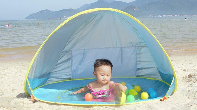 Pop-up shade pool.