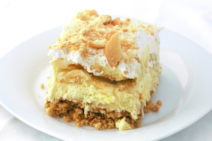 No bake banana pudding pie.