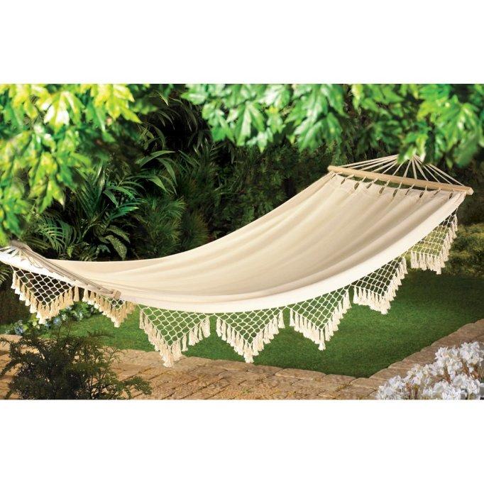 Best hammock for boho-chic backyards.