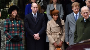 prince harry prince william meghan markle kate middleton at christmas mass