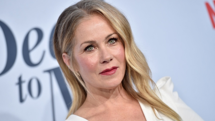 Christina Applegate at premiere of 'Dead