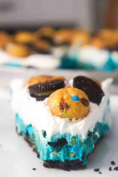 No bake Cookie Monster pie.