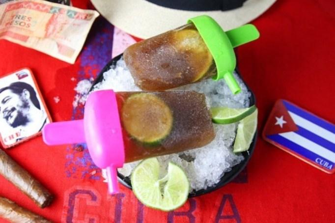 Cuba Libre popsicles.