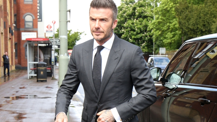 david beckham in a suit