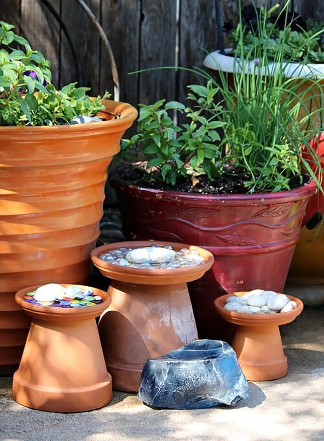Easy Gardening Tutorials: DIY Bee and Butterfly Bath