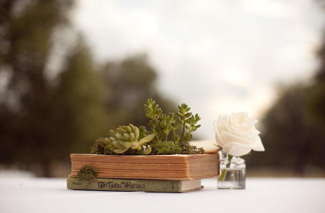 DIY Vintage Book Planters