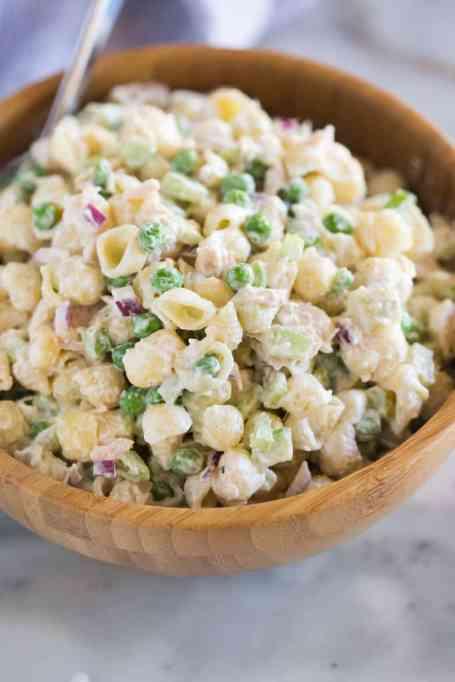 Easy and delicious tuna pasta salad.