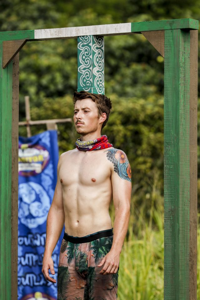 Gavin Whitson competes on Survivor: Edge of Extinction