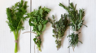 Mixed fresh herbs, Thyme,Dill, Rosemary and