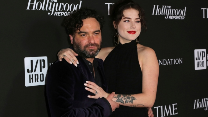 Johnny Galecki & Alaina Meyer