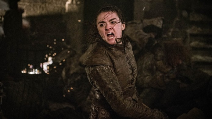 Arya at the Battle of Winterfell