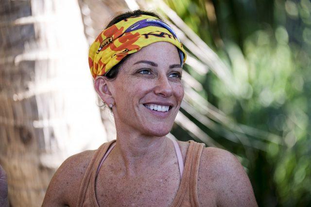 Julie Rosenberg competes on Survivor: Edge of Extinction