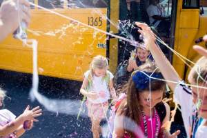 Epic Last Day of School Traditions; Silly String Fight