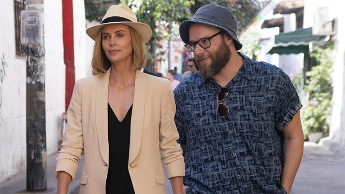 Still of Seth Rogen and Charlize