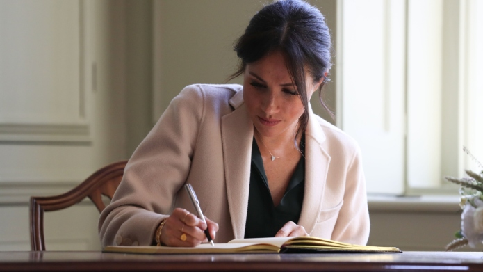 meghan markle writing