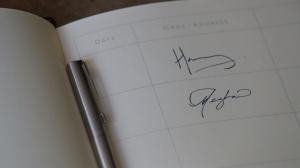 meghan markle prince harry signature