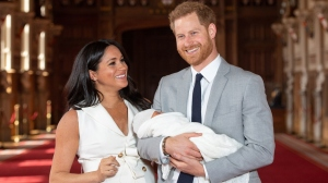 Meghan Markle, Prince Harry and baby Archie Harrison.