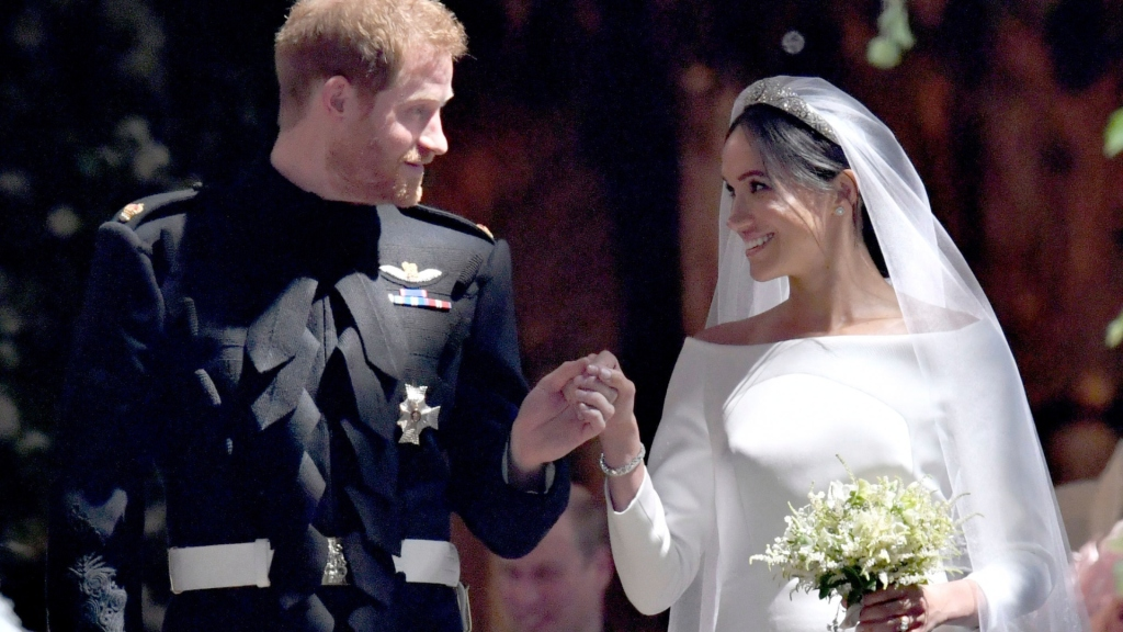 meghan markle and prince harry from wedding day