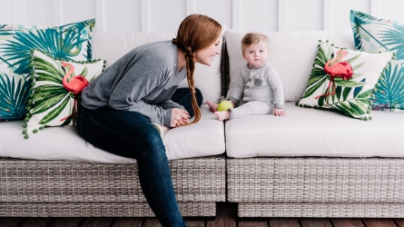 Mina Starsiak-Hawk Talks Motherhood & the