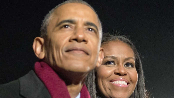 Barack Obama and first lady Michelle
