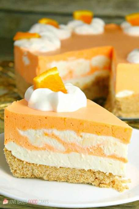 No bake orange creamsicle cheesecake.