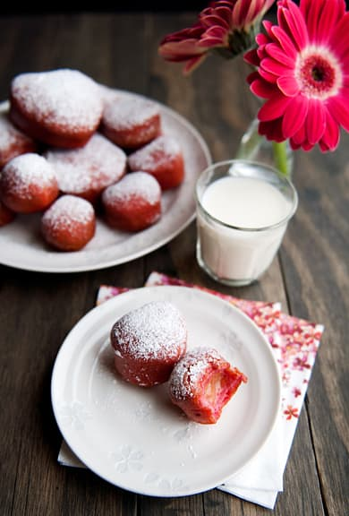 Beet Doughnuts With Blood Orange Curd Filling