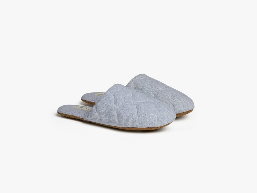 Parachute Madewell Chambray Slippers