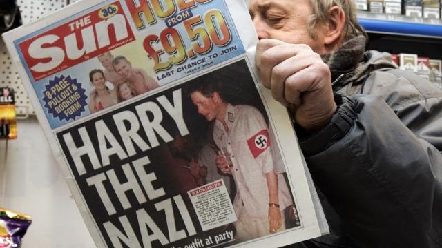 prince harry newspaper nazi costume