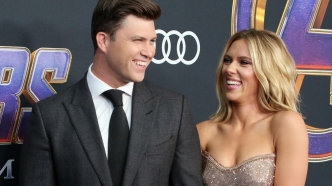 colin jost and scarlett Johansson