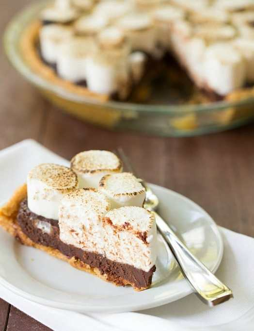 No bake S'mores pie.