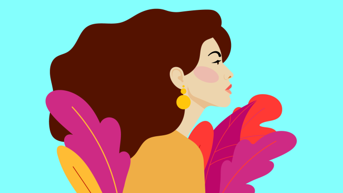 Illustration of a confident woman