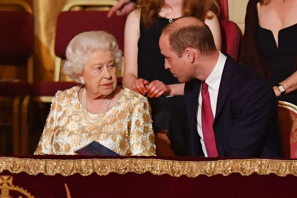Queen Elizabeth II sits with Prince William at the Royal Albert Hall in London during a star-studded concert to celebrate her 92nd birthday.Queen Elizabeth II 92nd birthday celebration, London, UK - 21 Apr 2018