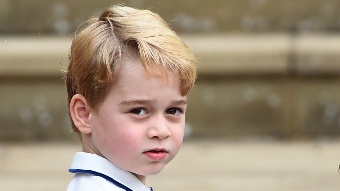 Prince George arrives at St George's