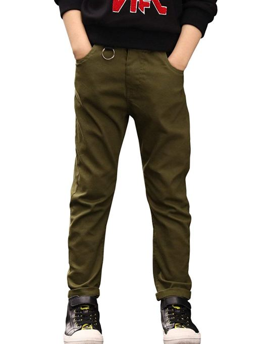 Back-to-School Clothes for Kids: BYCR Boys' Slim Fit Jogging Pants in Army Green