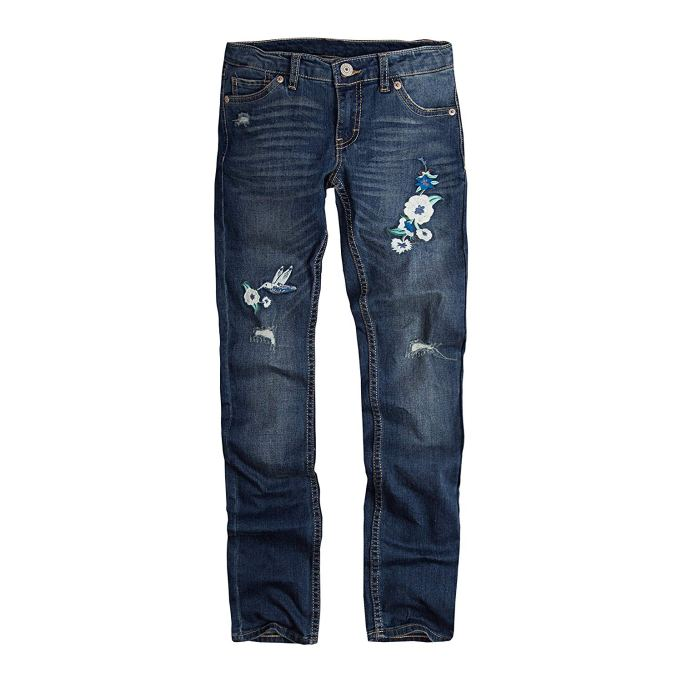 Back-to-School Clothes for Kids: Levis Girls' 711 Skinny Rockabilly Embroidered Jeans