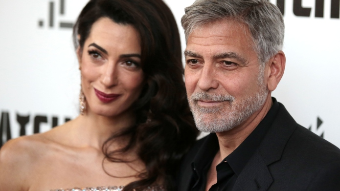 George & Amal Clooney Have Dinners