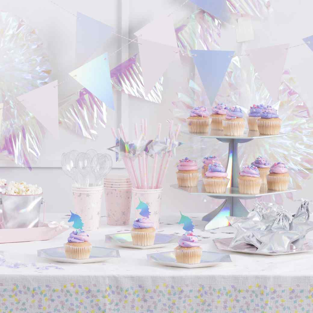 Iridescent Unicorn Party Supplies