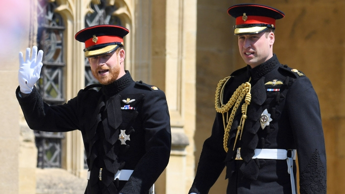 Prince Harry and Prince WilliamThe wedding