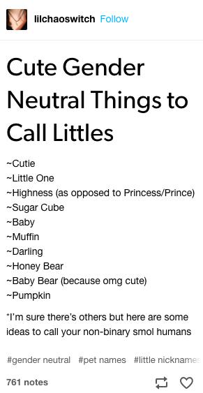 Tumblr non-binary nicknames