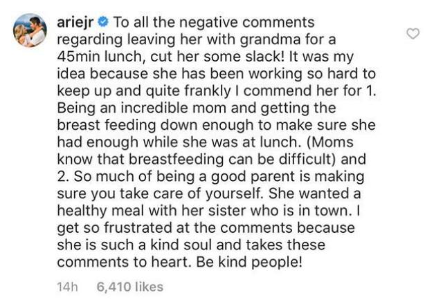 Arie Luyendyk Jr. defends wife Lauren Burnham on Instagram