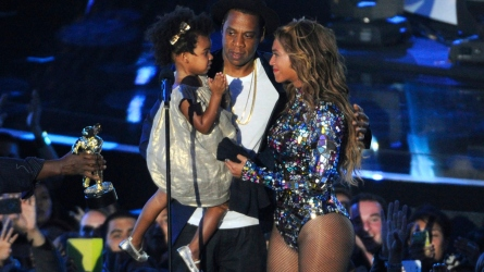Beyonce, Blue Ivy, and Jay Z.