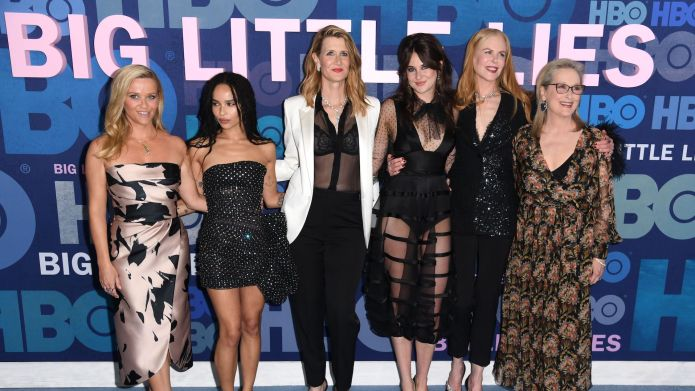 Big Little Lies Cast Attends Zoe Kravitz Karl Glusman S