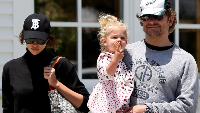 Bradley Cooper, Irina Shayk and daughter out and about, Los Angeles, USA