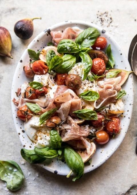 Fresh Fig, Prosciutto and Arugula Salad with Cherry Tomato Vinaigrette.
