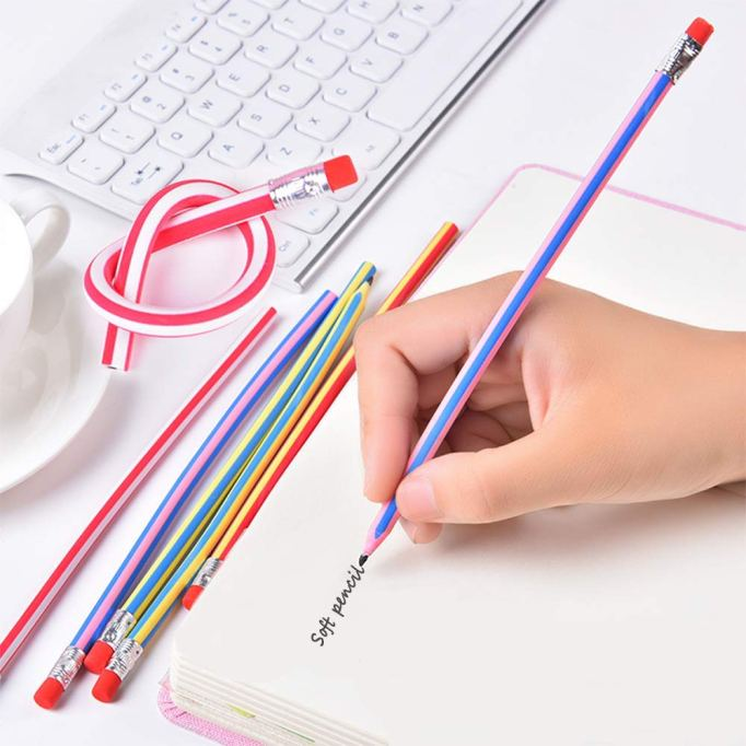 Unique School Supplies: Flexible Stripe Pencil