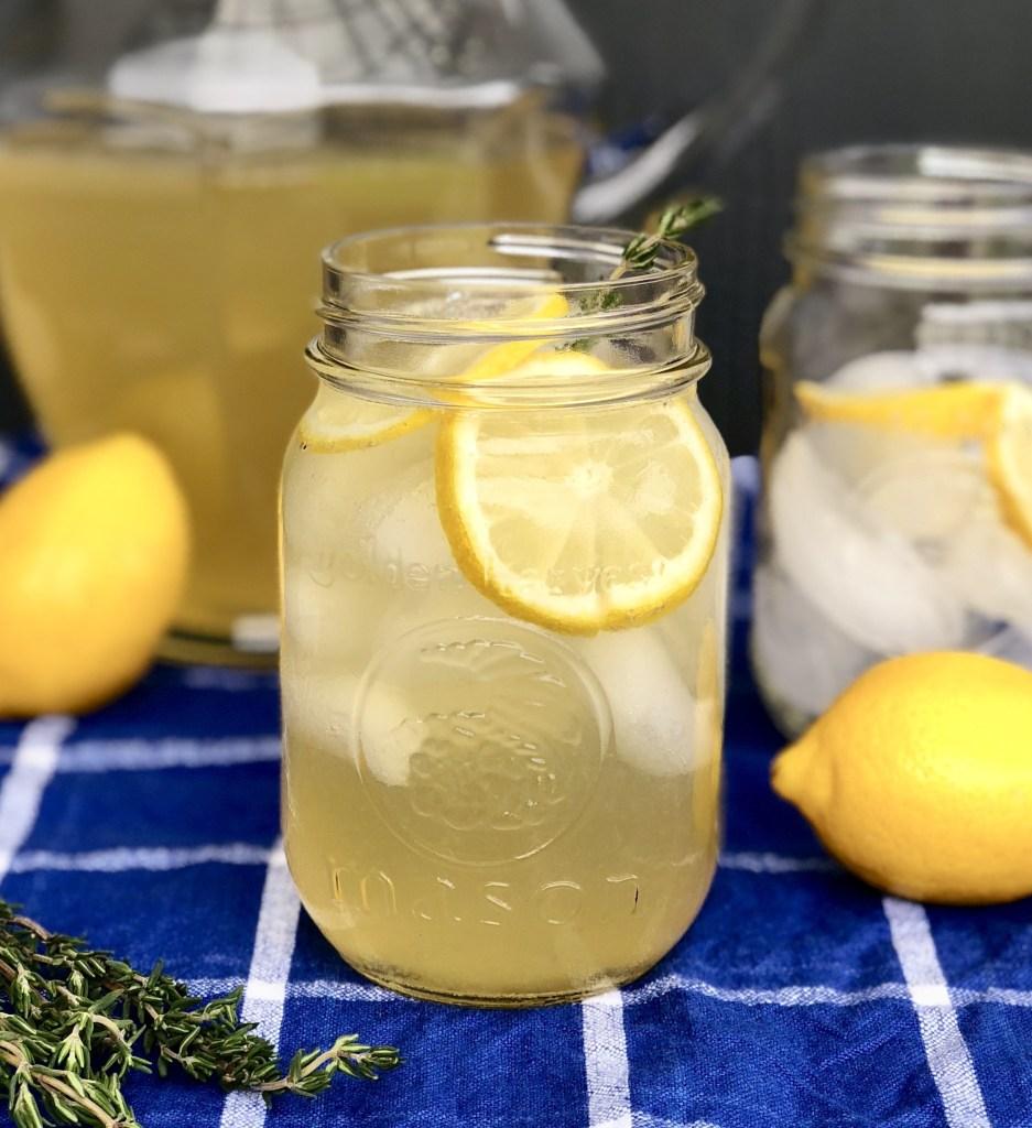 Grilled Lemon Thyme Lemonade
