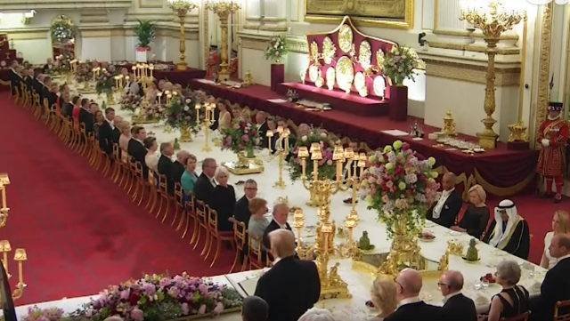 Still of State dinner in UK rose hanbury seating