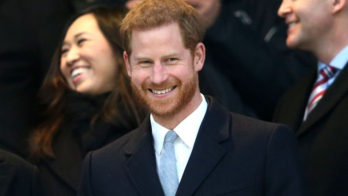 Prince Harry at England v Wales,